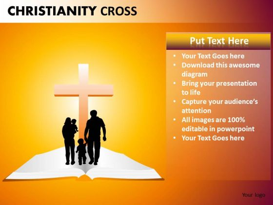 christian family powerpoint ppt templates - powerpoint templates, Modern powerpoint
