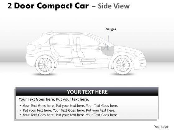 Chrome 2 Door Gray Car Side PowerPoint Slides And Ppt Diagram Templates