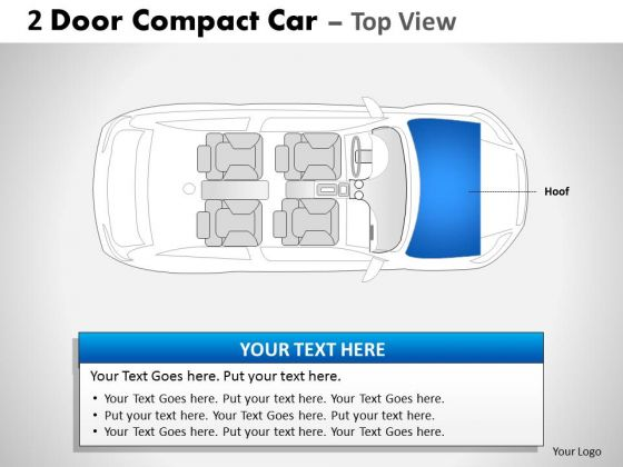 Chrome Classic 2 Door Blue Car Top PowerPoint Slides And Ppt Diagram Templates