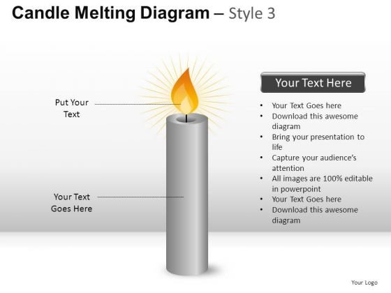 Church Candle Melting Diagram 3 PowerPoint Slides And Ppt Diagram Templates