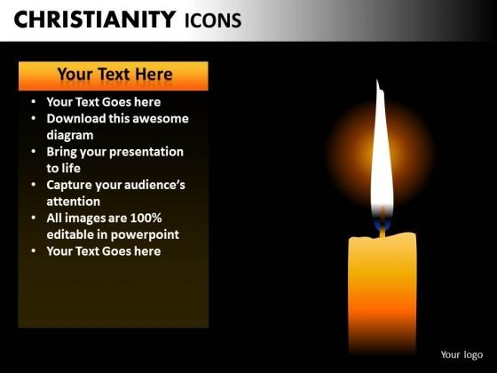 Church Candles PowerPoint Ppt Templates