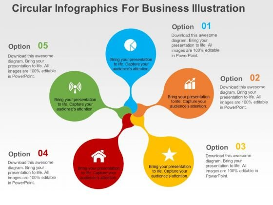 Cicular Infographic For Business Illustration PowerPoint Templates