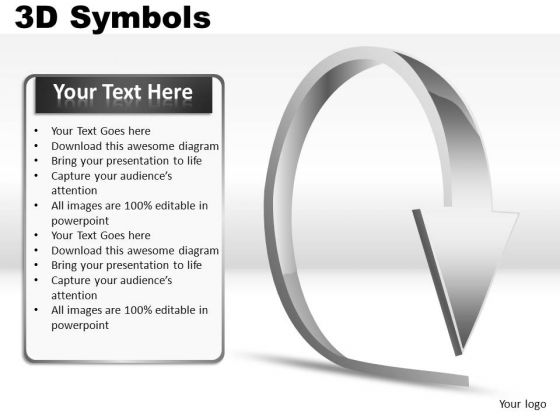 Circle 3d Symbols PowerPoint Slides And Ppt Diagrams Templates