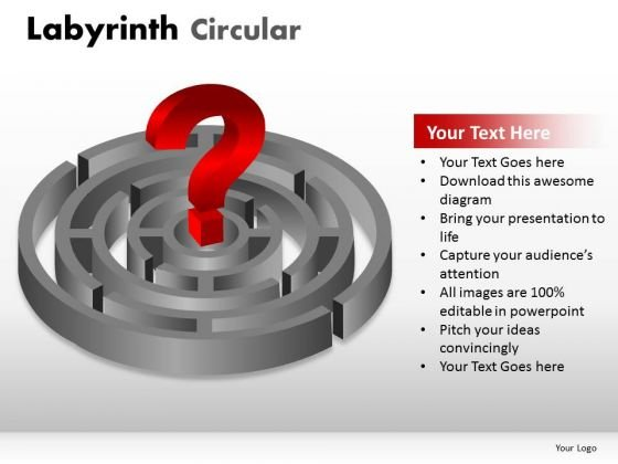 Circle Circular Labyrinth Circular PowerPoint Slides And Ppt Diagram Templates