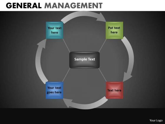 Circle Process Chart Diagram With 4 Stages PowerPoint Slides Ppt Templates
