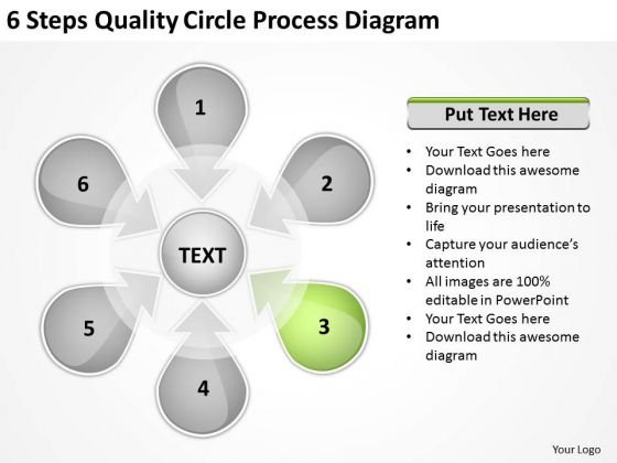 Circle Process Diagram Example Of Executive Summary For Business Plan PowerPoint Templates