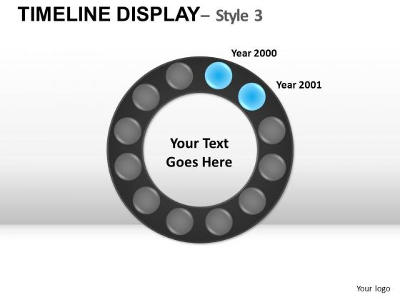 Circle Timeline Display Years PowerPoint Slides And Ppt Diagram Templates