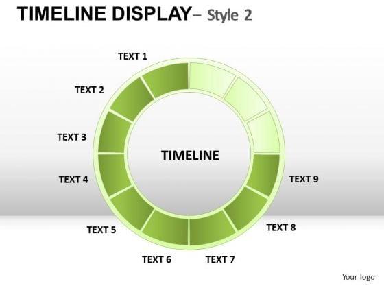 Circle Timeline Project Management Chart Ppt Slides