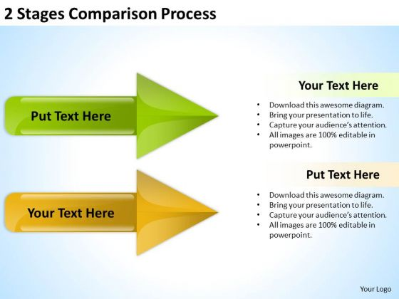 Circular Arrow PowerPoint Stages Comparison Process Templates Ppt Backgrounds For Slides