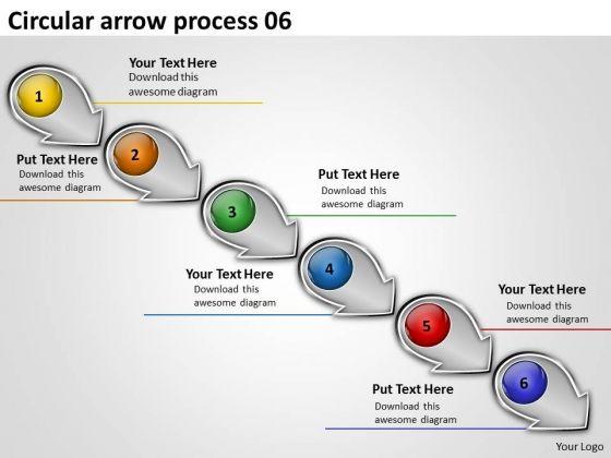 Circular Arrow Process PowerPoint Flow Chart Slides