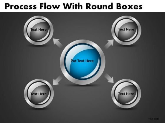 Circular Buttons With Arrows Process PowerPoint Templates Editable Ppt Slides