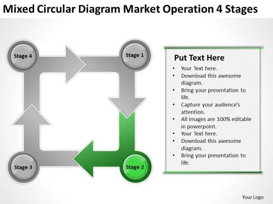 Circular Diagram Market Operation 4 Stages Ppt Business Plan Cover Page PowerPoint Templates