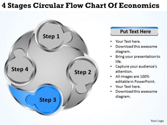 Circular Flow Chart Of Economics Business Plans For Small PowerPoint Templates