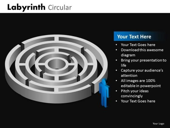Circular Labyrinth Ppt Templates And Maze Ppt Slides