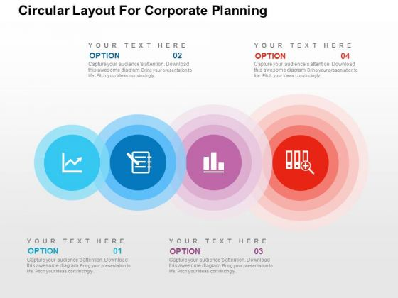 Circular Layout For Corporate Planning PowerPoint Template