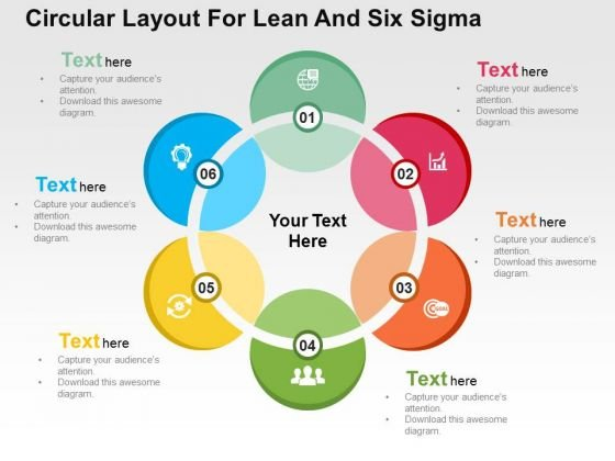 Circular Layout For Lean And Six Sigma PowerPoint Templates