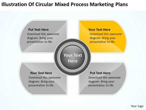 Circular Mixed Process Marketing Plans Ppt Business Software Download PowerPoint Templates