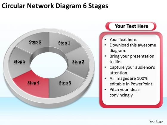 Circular Network Diagram 6 Stages Business Plan For PowerPoint Slides