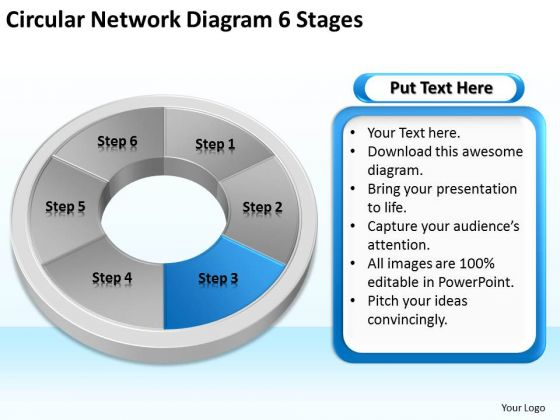 Circular Network Diagram 6 Stages Business Plan Professional PowerPoint Templates