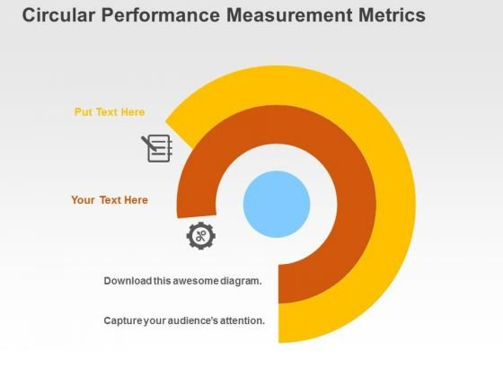 Circular Performance Measurement Metrics PowerPoint Templates