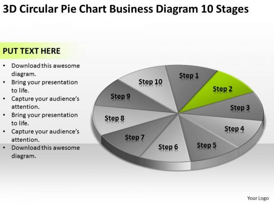 Circular Pie Chart Business Diagram 10 Stages Plan PowerPoint Slides