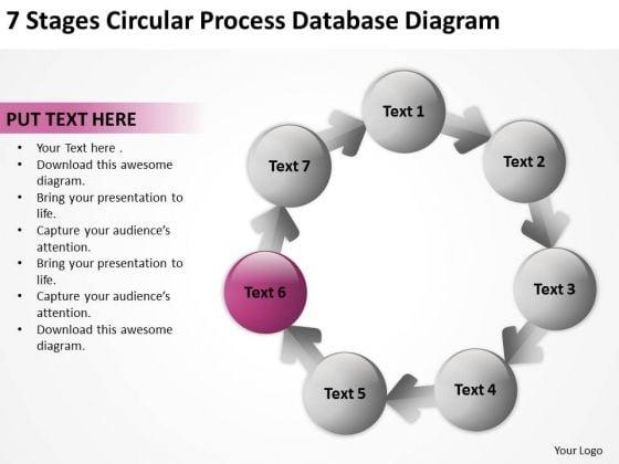 Circular Process Database Diagram Business Plan Templates PowerPoint Slides