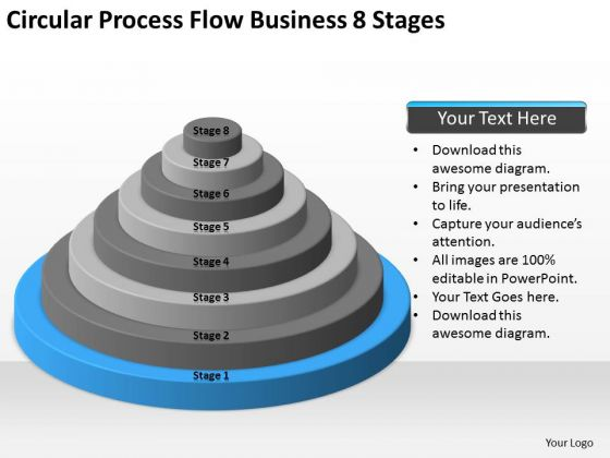 Circular Process Flow Business 8 Stages Ppt Examples Of Plan PowerPoint Templates