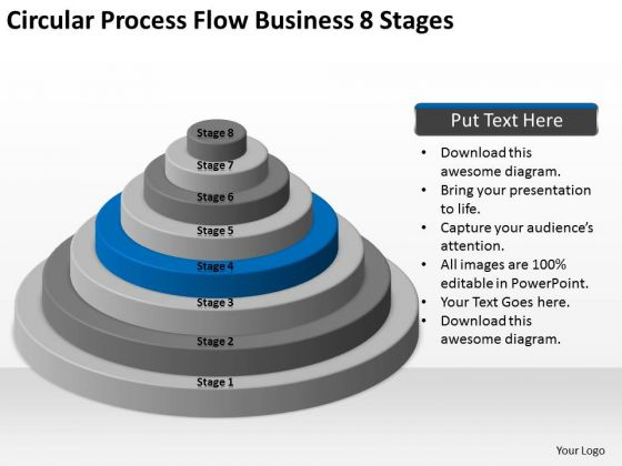Circular Process Flow Business 8 Stages Ppt How To Develop Plan PowerPoint Slides