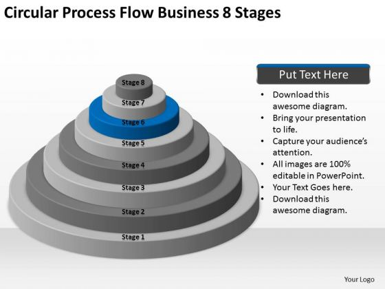 Circular Process Flow Business 8 Stages Ppt Mini Plan Template PowerPoint Slides