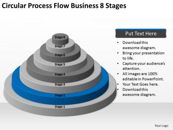 Circular Process Flow Business 8 Stages Ppt Plan PowerPoint Slides