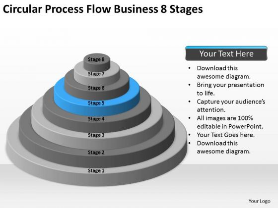 Circular Process Flow Business 8 Stages Ppt Planning Software PowerPoint Slides