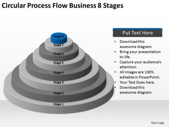 Circular Process Flow Business 8 Stages Ppt Plans For Dummies PowerPoint Templates