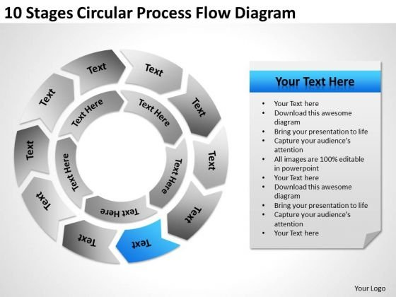 circular process flow diagram ppt executive business plan template, Modern powerpoint