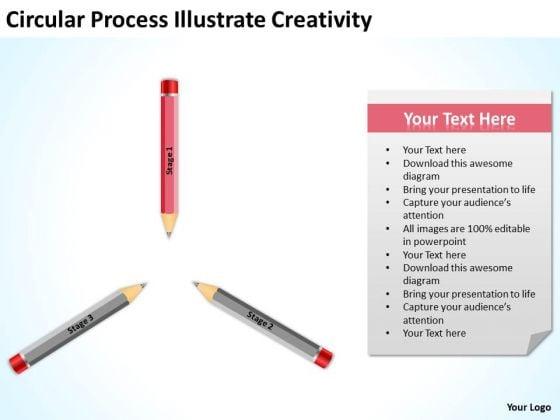Circular Process Illustrate Creativity Ppt Business Plan Generator PowerPoint Templates