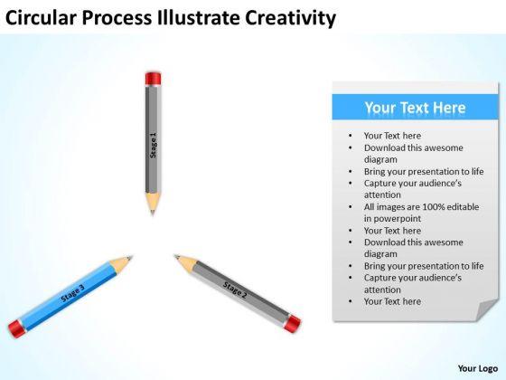 Circular Process Illustrate Creativity Ppt Business Plan PowerPoint Slides