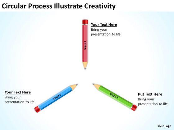 Circular Process Illustrate Creativity Ppt Business Plans PowerPoint Slides