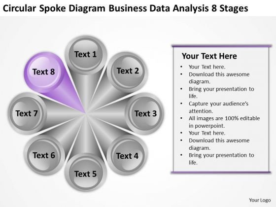 Circular Spoke Diagram Business Data Analysis 8 Stages Ppt Film Plan PowerPoint Slides