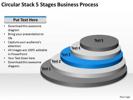 Circular Stack 5 Stages Business Process Ppt Plan Templates PowerPoint Slides