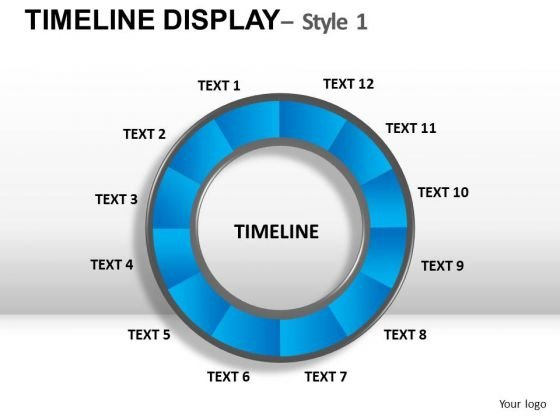 Circular Timeline Chart PowerPoint Slides And Ppt Templates ...