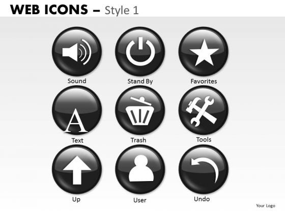 Clipart Web Icons PowerPoint Slides And Ppt Diagram Templates