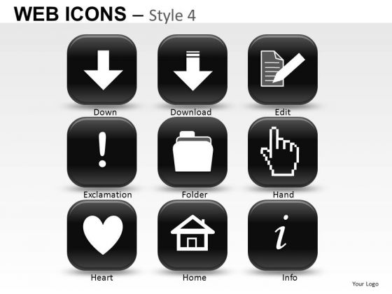 Clipart Web Icons PowerPoint Slides And Ppt Graphics