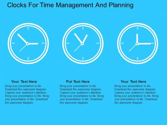 Clocks For Time Management And Planning PowerPoint Templates