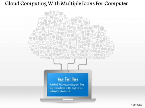 Cloud Computing With Multiple Icons For Computer Presentation Template