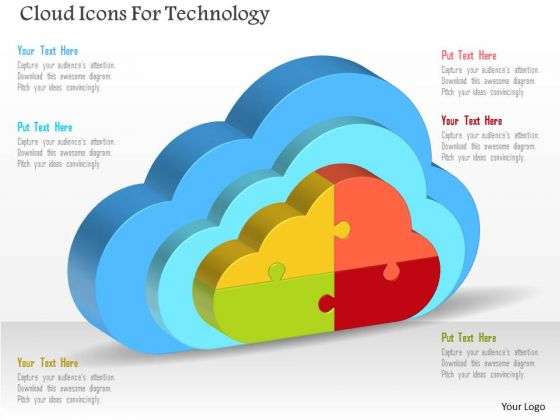 Cloud Icons For Technology PowerPoint Template