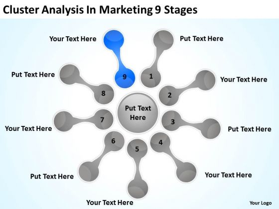Cluster Analysis In Marketing 9 Stages Actual Business Plan Examples PowerPoint Slides