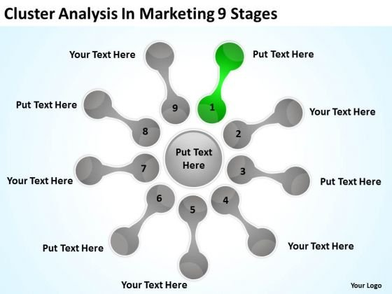 Cluster Analysis In Marketing 9 Stages Basic Business Plan Outline PowerPoint Templates