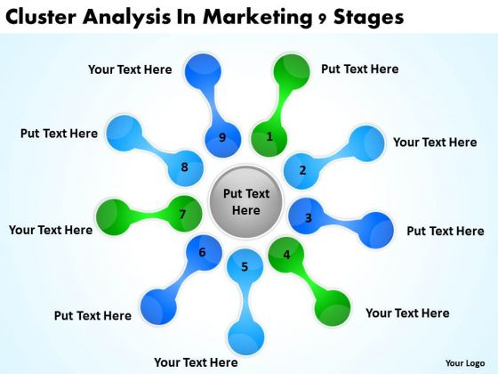 Cluster Analysis In Marketing 9 Stages Business Plan PowerPoint Slides