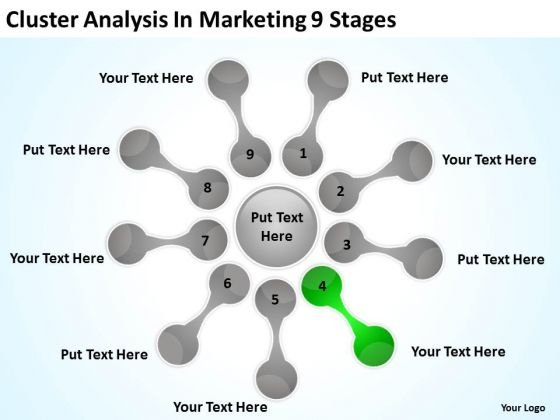 Cluster Analysis In Marketing 9 Stages Who Writes Business Plans PowerPoint Slides