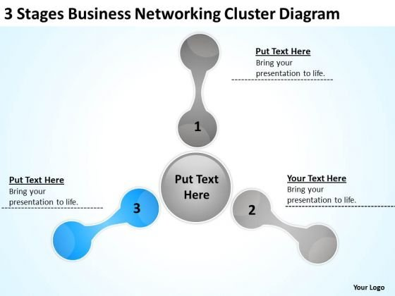 Cluster Diagram Ppt How To Write Business Plan For Small PowerPoint Templates