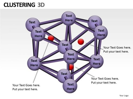Clustering 3d Tech PowerPoint Slides And Ppt Diagram Templates